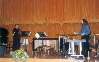 Salvador Vidal (clarinete) Pedro Estevan (percusión)